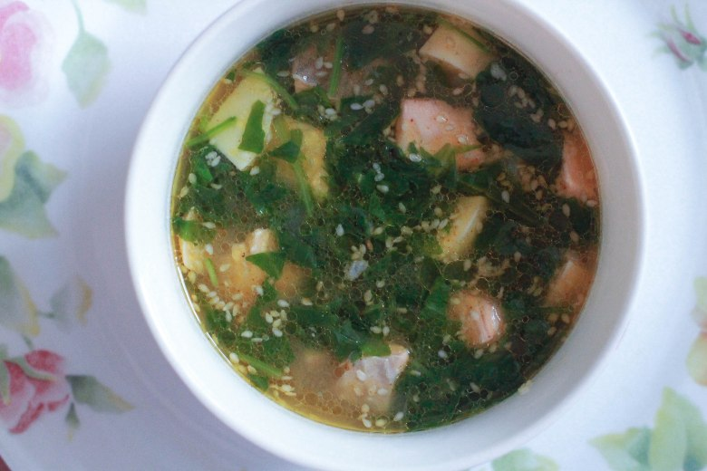 Spinach Salmon Miso Soup (6)