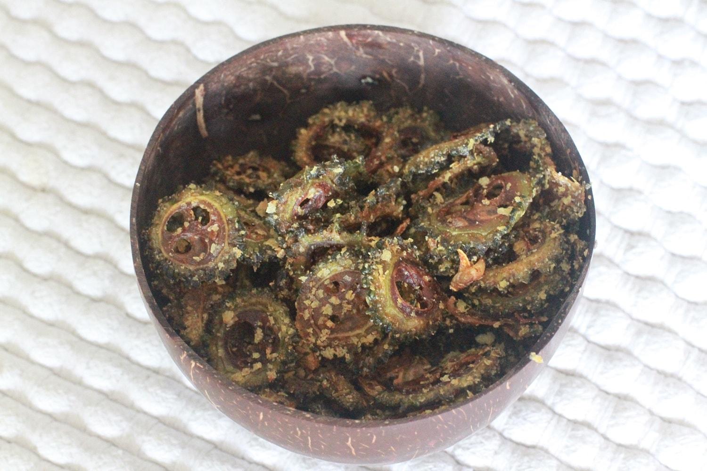 kaleandbittergourdfries (1)
